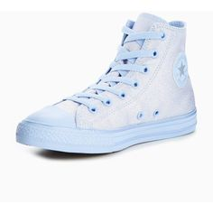 Converse Converse Chuck Taylor All Star Mono Shine Hi Childrens... (€45) ❤  liked on Polyvore featuring shoes 9a8a93dec