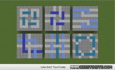 minecraft floor designs - this is actually really nice-i wouldn't use those textures, but the designs are great