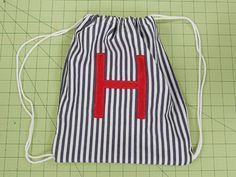 Aoife needs a new PE bag.................DIY: How To Make A Drawstring Backpack