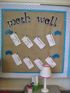 Bits of First Grade- Math wall- Math Vocabulary First Grade Classroom, First Grade Math, Classroom Design, Future Classroom, Grade 1, Classroom Ideas, Math Crafts, Math Projects, Circle Math