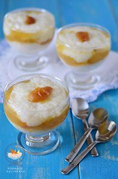Tapioka z gotowanymi jabłkami i morelami, Tapioca with stewed apples and apricots