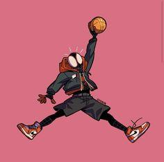 """Spider-Jump-Man 🕷👟 Decided to combine the Jumpman logo with Miles since he's wearing Air Jordan 😁 Jordan Logo Wallpaper, Hype Wallpaper, Marvel Wallpaper, Cartoon Wallpaper, Dope Cartoon Art, Dope Cartoons, Michael Jordan Art, Spiderman Kunst, Miles Morales Spiderman"