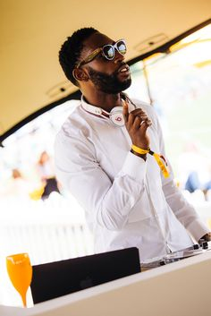 Veuve Clicquot Gold Cup Picnic.  Tinie Tempah DJing.  #champagne #events #photography #branding #marketing Photography Branding, Event Photography, Tinie Tempah, Veuve Clicquot, Gold Cup, Polo Club, Corporate Events, First Time, Champagne