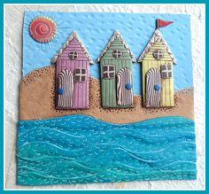 Beach Huts Polymer Clay