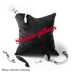 Perfect for hiding adult toys and serves as a decorative pillow at the same time.   Keyzdiscreettreasures.com