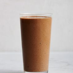 Banana, Coffee, Cashew, and Cocoa Smoothie Recipe. (also has dates, oats, cardamom, salt)