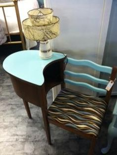 Vintage gossip girl phone bench at Bella looking for a new home. Just call us!