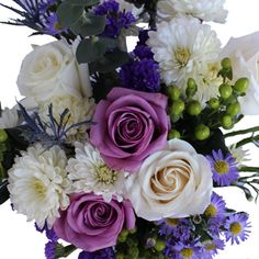 Shop Fiftyflowers for Purple and White Wedding Centerpieces. Stunning arrangements for any occasion, Purple and White Centerpieces will be the center of attention at your next event. Bursts of purple, cream and green Purple and White Wedding Centerpieces are shipped fresh from the farm to...