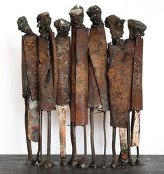 metal sculpture Metal sculpture: Standing Seven I, cm - by metal sculptures junk artist JPJ Metal Sculpture Artists, Sculpture Stand, Abstract Sculpture, Wood Sculpture, Abstract Art, Modern Art Sculpture, Bronze Sculpture, Support Pour Sculpture, Online Galerie