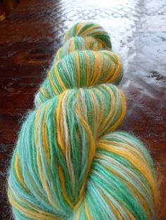 Hand Dyed Upcycled Wool Yarn by Knitpurly on Etsy, $18.00