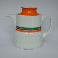 Coffee/Teapot Schirnding Bavaria Orange Purple by KidsAndKitchen
