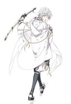 Tsurumaru Kuninaga which Izumi(his character designer) drew. Photo by Izumi official twitter(@izumi516).