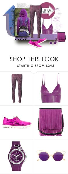 """""""Purple Reign"""" by michelletheaflack ❤ liked on Polyvore featuring Faith Connexion, T By Alexander Wang, Marsèll, HALABY, Raw Color, TechnoMarine, Dita, polyvorecontest and CroppedHoodie"""