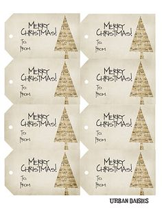 Christmas tag free printable