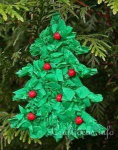 Christmas tree paper ornament..