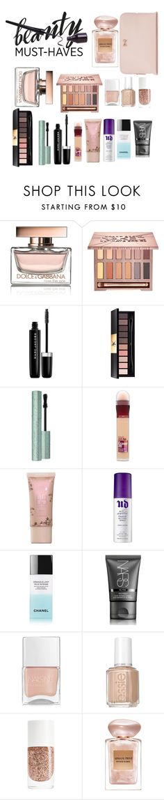 """Untitled #839"" by antonela-475 ❤ liked on Polyvore featuring beauty, Dolce&Gabbana, Urban Decay, Marc Jacobs, Yves Saint Laurent, Too Faced Cosmetics, Maybelline, NARS Cosmetics, Nails Inc. and Essie"