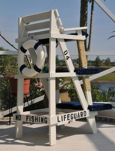 This is the fourth in the Lifeguard Chair cat-tower series, and, with this model, the design intent was to . Outside Benches, Lifeguard Chair, Picnic Table Bench, Woodworking Projects, Diy Projects, Diy Bench, Diy Chair, How To Level Ground, Beach Art