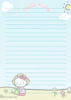 PAPEL DE CARTA 6: Hello Kitty