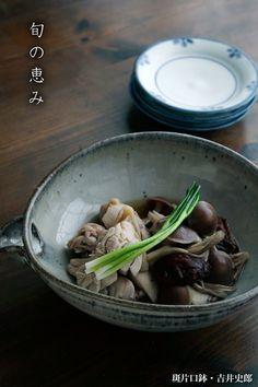 斑片口鉢・吉井史郎|和食器の愉しみ・工芸店ようび|和食器の愉しみ・工芸店ようび|種々の鉢と取り皿の効用