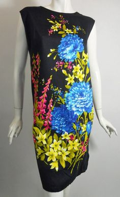 1960s floral print sheath dress