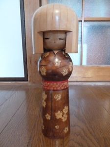 """Big Cute Girl"" Japanese vintage kokeshi doll"