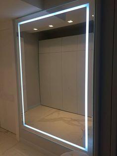 Данный проект выполнен силами наших специалистов в 2016г. Зеркало с подсветкой коридоре. Зеркало выполнено на подложке МДФ. Проект реализован в Москве. Decor, Furniture, Wood, Bathroom Lighting, Home Decor, Bathroom Mirror, Mirror Designs, Light, Led Mirror