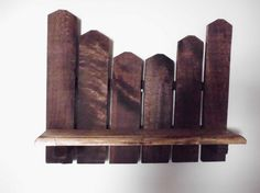 Primitive Picket Shelf Made With Reclaimed Wood By Joannies Country Shop eclectic wall shelves