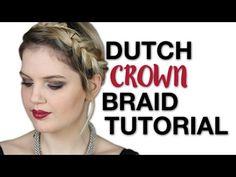 Ολλανδική Πλεξίδα σε Στεφάνι | i Mikri Ollandeza - YouTube Braid Crown Tutorial, Youtubers, Braids, Bang Braids, Cornrows, Braid Hairstyles, French Braids, Plaits, Braid Out