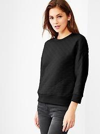 Quilted sweatshirt $45
