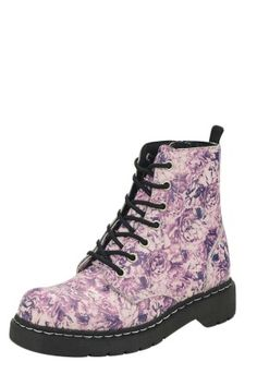 Washed Pink Rose Combat Boot
