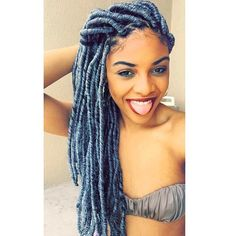 HAIRSPIRATION| Love these #grey #fauxlocs on @coolassmisha GORGEOUS #VoiceOfhair ========================= Go to VoiceOfHair.com ========================= Find hairstyles and hair tips! =========================