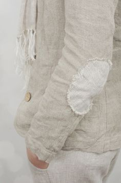 Natural linen jacket from Scotland