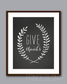 Pinterest Party Girls Group // INSTANT DOWNLOAD - Give Thanks Chalkboard Style - Printable on Etsy, $2.50