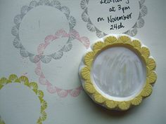 round nature pattern border stamps