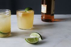 Homemade Alcoholic Ginger Beer |  1 1/2 teaspoon champagne yeast freshly grated ginger granulated sugar juice of 2 lemons 1 jalapeno, sliced (optional)