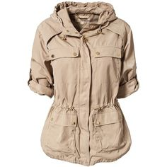Michael Michael Kors Cinched Waist Anorak (£128) ❤ liked on Polyvore
