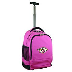 NHL Mojo Nashville Predators Wheeled Backpack - Pink