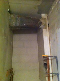 Utility Closet at the beginning