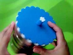 Herthal art's: como fazer tampa de e.v.a p lata com um cd