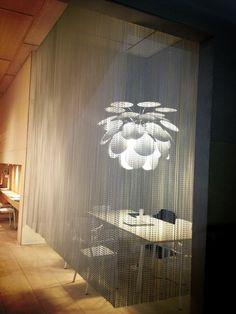 Kriskadecor decorative #curtains for Marset Barcelona stand in @iSaloni  #design