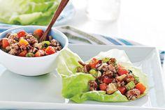 Pork and Shiitake Lettuce Wraps. Hopefully like the restaurants!