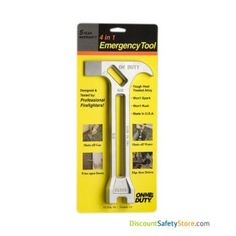 Be prepared with the emergency tool. One rust proof, spark proof tool to shut off gas and water. Don't dig in your toolbox for the correct wrench at the last minute! Home Safety Tips, Family Safety, Military Gear, 4 In 1, Survival, Tools, Commercial, Water, School Office