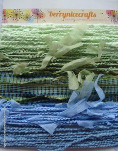 PK4 15m Green Blue Mix Wool Fibres Green Blue by berrynicecrafts, £2.00