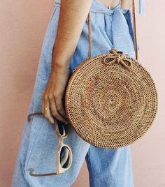Love this cute round straw handbag for summer.