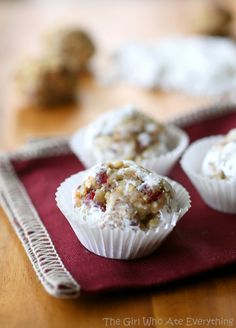 Cranberry Walnut Truffles