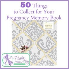 50 Things to Collect for Your Pregnancy Memory Book - Consider saving some of these items that symbolize the important events in your personal #pregnancy journey. #keepsakes #memorybooks
