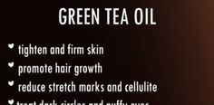 HOMEMADE GREEN TEA OIL RECIPE ALONG WITH BENEFITS AND USES