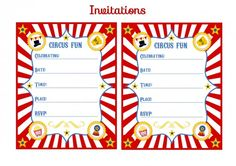 FREE Circus Birthday Party Printables from Printabelle | Catch My Party