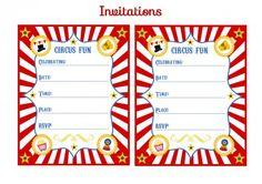 free circus birthday party printable invitation