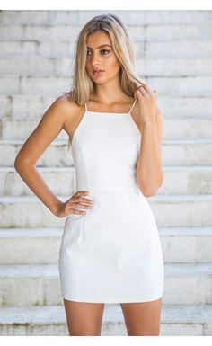 Quartz White Dress - White Fox